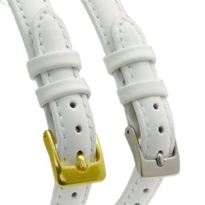 Ladies White Leather Watch Strap 8mm 10mm 12mm 14mm
